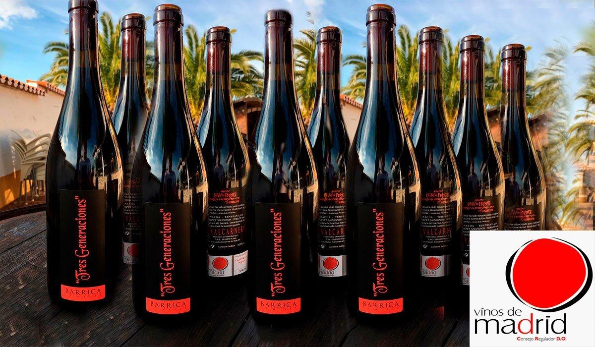 Presentacion botellas Vino Tres Generaciones